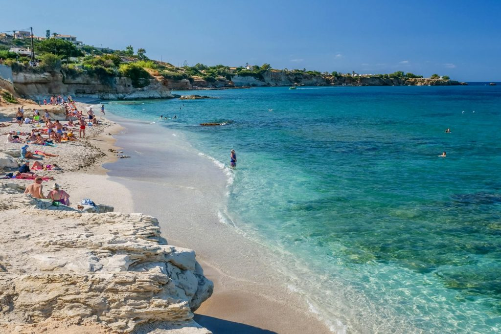 Херсониссос пляж Сарантарис