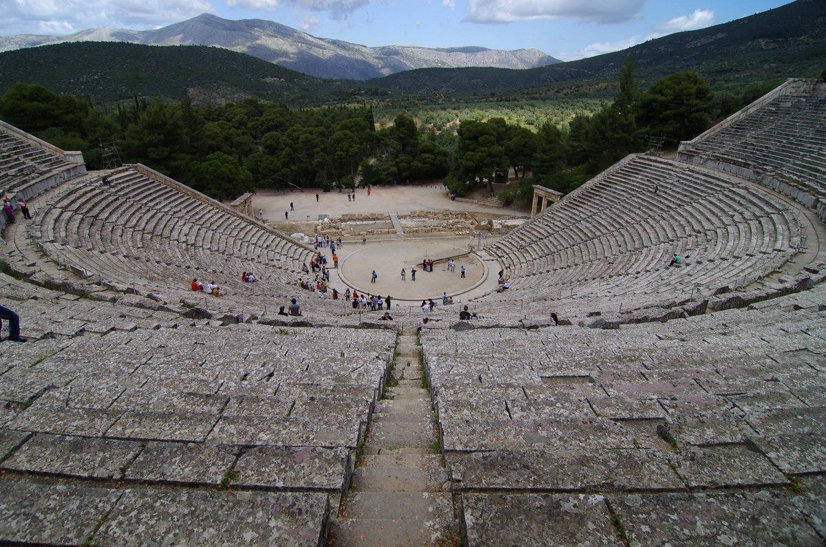 Город Олимпия в Греции