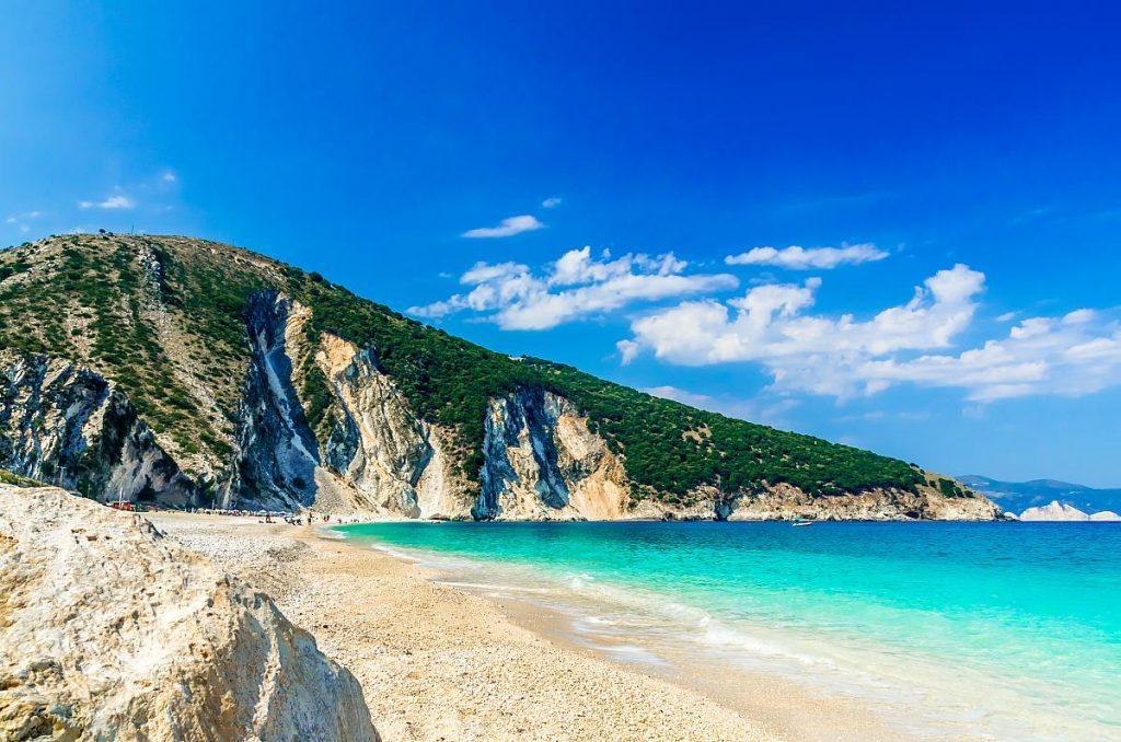 Пляж Миртос Кефалония Греция фото