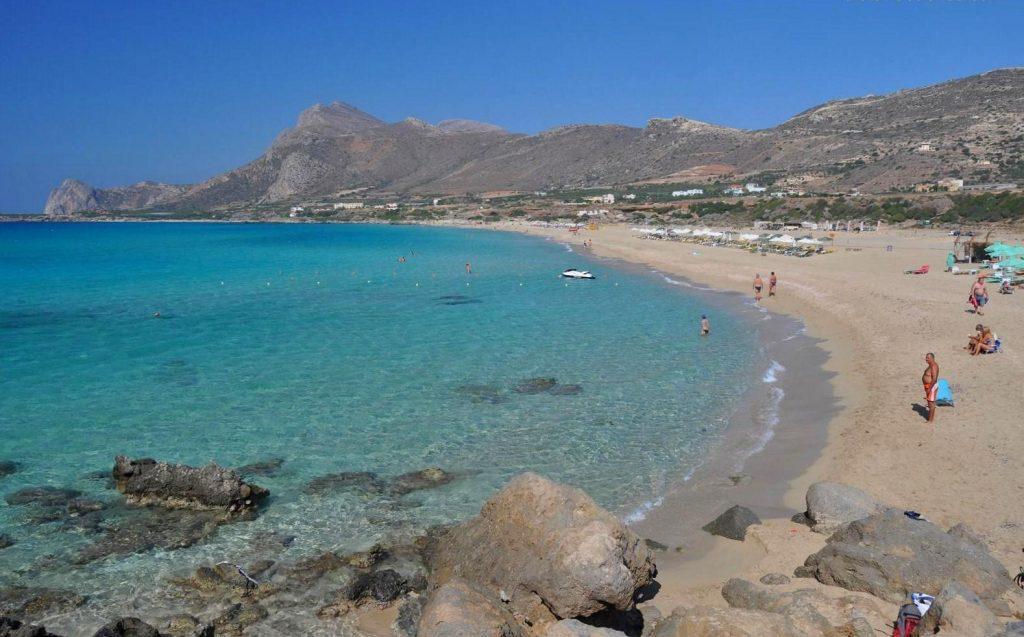 Сарантарис Крит пляж фото