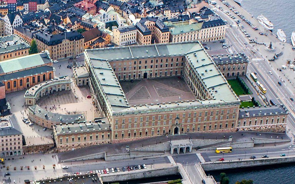 Швеция Королевский дворец в Стокгольме
