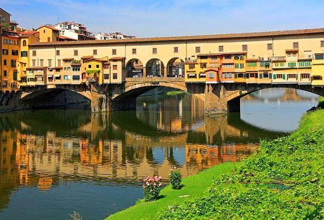 Арно Понте Веккьо в Флоренции